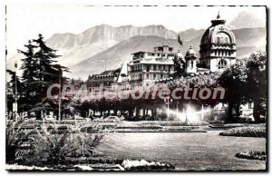 Old Postcard Evian Les Bains The Gardens Of Thermal And Dent D'Oche