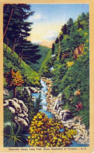 [ Linen ] US Vermont Rutland - Clarendon Gorge, Long Trail, Green Mountains