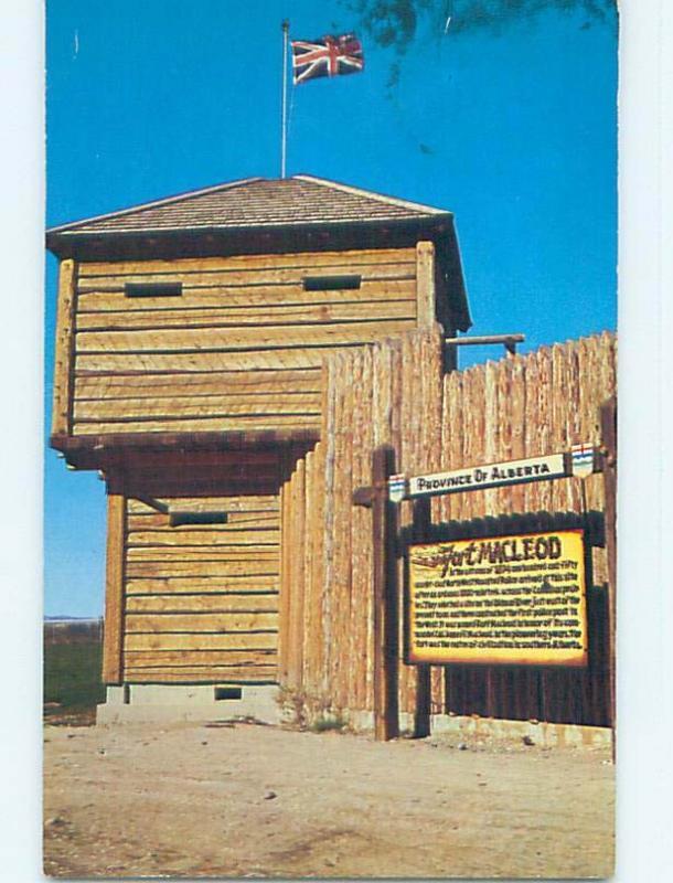 Pre-1980 TOWN VIEW SCENE Ft. Fort Macleod Alberta AB p9238