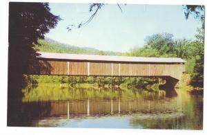 Covered Bridge Postcard Pennsylvania Hillsgrove PA
