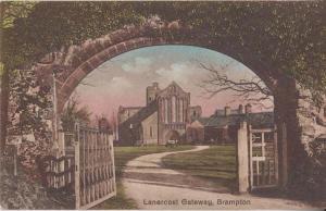 Brampton Lanercost Bridge Gateway Cumbria Old Antique Unused Postcard