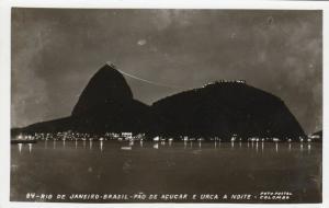RP; RIO DE JANEIRO, Brasil, 30-50s; Pao De Acucar E Urca A Noite