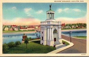 Ohio Hamilton Soldiers' Monument Curteich