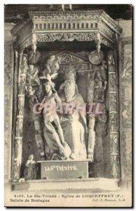 Old Postcard Holy Trinity Church of Saints Loqueffret Britain