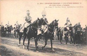 German Emperor Guglielmo Wilhelm II Military Vintage Postcard JJ658830