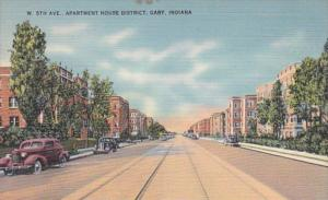 Indiana Gary West 5th Street Apartment House District