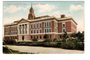 Simmons College, Fenway, Boston Massachusetts, Used 1907 Flag Cancel