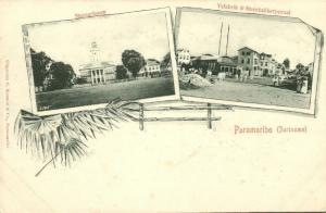 suriname, PARAMARIBO, Multiview, Stone Building and Ice Factory (1899)
