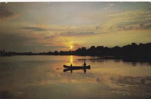 Sunset View, Canoeing, ST. JOSEPH DE BEAUCE, Quebec, Canada, 40-60's