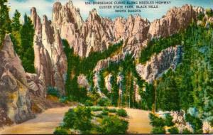 South Dakota Black Hills Custer State Park Horseshoe Curve Along Needles Highway