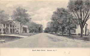 Geneva New York~South Main Street~Houses~House with Greek Columns~c1905 Postcard