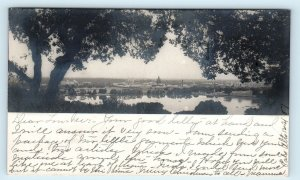 RPPC PALO ALTO, CA California ~ STANFORD UNIVERSITY Across Water 1907 Postcard