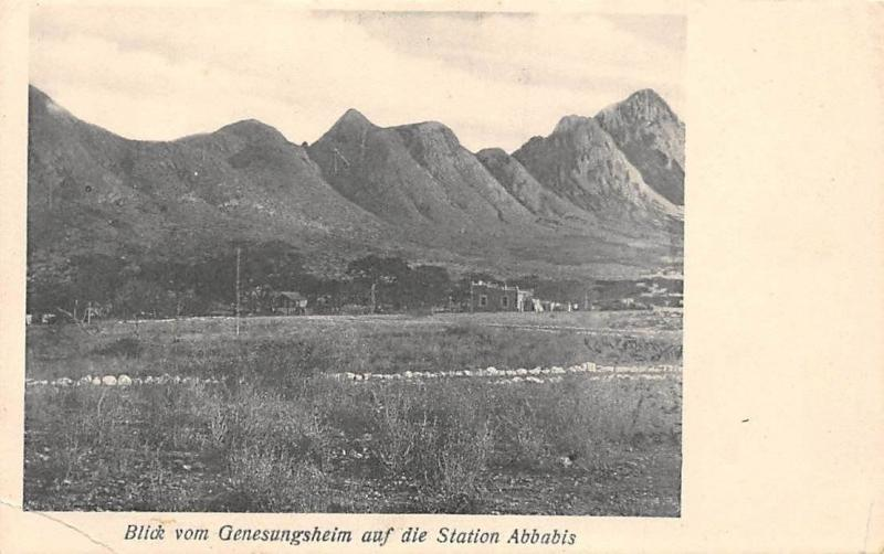 Namibia Blick vom Genesungsheim auf die Station Abbabis