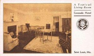 A Typical Living Room, Coronado Hotel, St. Louis, Missouri, Unused