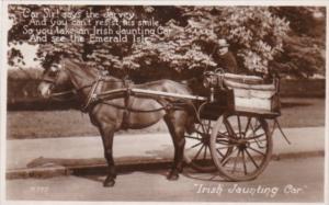 Ireland Irish Jaunting Car Real Photo