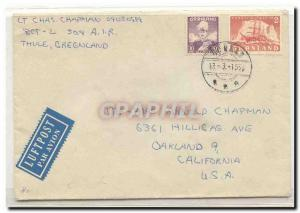 Greenland 1956 cover to Us (Greenland Arctic boat letter)