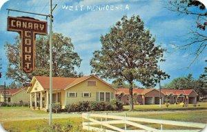 WEST MONROE LOUISIANA~CANARY COURT MOTEL~HWY 80 1952 POSTCARD