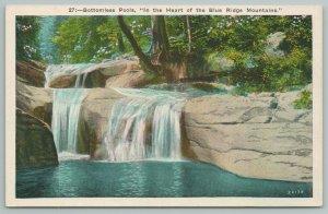 Virginia~Blue Ridge Mountains Bottomless Pools~Vintage Postcard