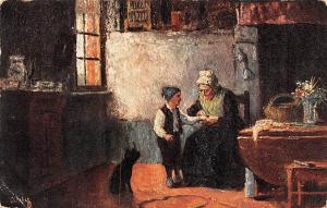 Flemish Cottage Homes, A Splinter Oilette S. Heyerman 1905