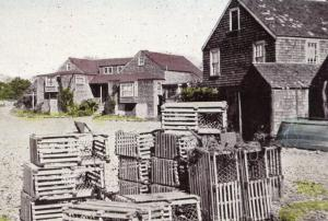 ME - Ogunquit. Early 1900's.  Lobster Pots at Perkins Cove    (Repro)