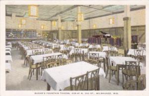 Milwaukee Wisocnsin Budar's Fountain Tavern Interior