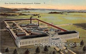New Federal Prison Leavenworth, Kansas USA Prison Postcard Post Card Leavenwo...