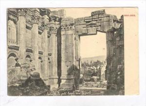 Baalbek , Lebanon , 00-10s Interieur du petit temple avec la porte
