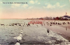 VIEW OF THE BEACH, OLD ORCHARD, ME. 1917