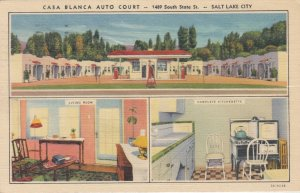 SALT LAKE CITY, Casa Blanca Auto Court, Utah, 30-40s