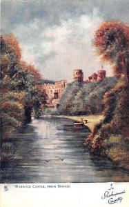 England Warwick Castle, from Bridge, In Shakespeare's County Oilette