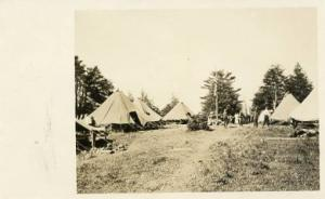 Military - Tent Encampment, Soldiers WWI   *RPPC