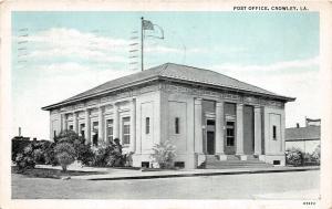 D94/ Crowley Louisiana La Postcard 1939 Post Office Building
