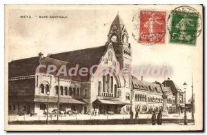 Postcard Metz Old Central Station