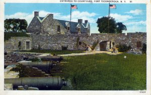 [ American Art ] US NY Fort Ticonderoga - Another Entrance To Courtyard (Color)
