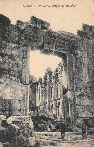 uk41846 porte du temple de baeehus baalbek lebanon
