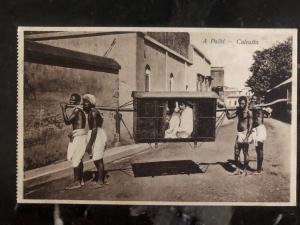 Mint India Real Picture Postcard RPPC A Palki Ride Calcutta