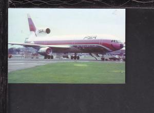 Pacific Southwest Lockheed L1011 Postcard