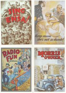 4x Military Radio Advertising Poster Postcard s