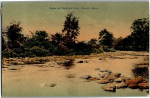Scene on the Westfield River Chester MA c1910 Vintage Postcard T19