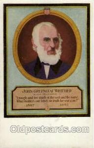 John Greenleaf Whittier Famous People Postcard Post Card  John Greenleaf Whit...