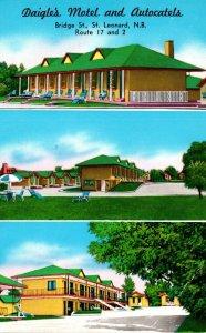 Canada New Brunswick Leonard Daigle's Motel and Autocaatels