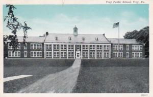 Pennsylvania Troy Public School 1953 Curteich