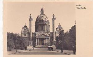 Austria Wien Karlskirche Real Photo