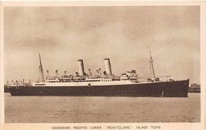 S.S.  Montclare  Canadian Pacific Liner