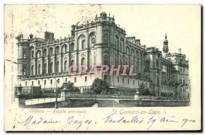 Postcard Old St Germain En Laye Chateau Main Facade