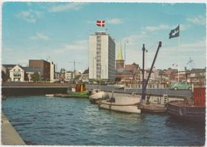Denmark, Aarhus, Havn, The Harbor, used Postcard