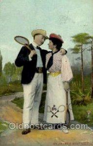 Theochrom-Serie 1063 Tennis 1909 small tear top edge, light corner wear, post...