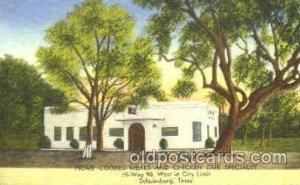 Lakeside Café, Schulenburg, Texas, USA Postcard Post Card writing on back