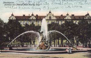 Fontanen Tors Fiske Pa Adolf Fredriks Torg, Stockholm, Sweden, PU-1906