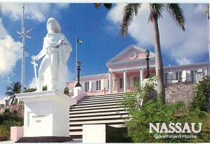 Nassau Government House Govenors Residence King of England  Postcard  # 7509